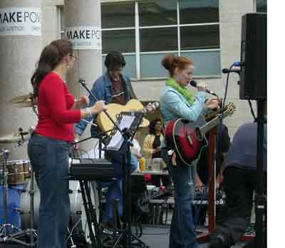 Band REPLENISH play at the MPH event at the City Church